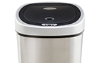 A Touchless Stainless Steel Trashcan